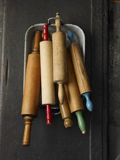 rolling pins  pretty colored handles