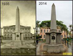 Redescobrindo o Alto Tietê: Antes e Depois - Obelisco Central de Mogi das Cruz...