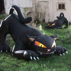 inflatable black halloween cat halloween decorations and decor - Halloween Cat Decorations