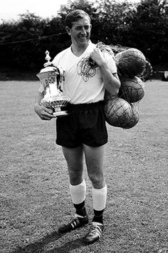 The captain, Danny Blanchflower, with the FA cup
