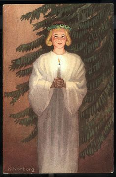 Nordic Thoughts: Vintage Lucia postcards by Käthe Norborg    ---     Santa Lucia
