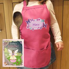 Kids Apron And Book Set - Personalise this Butterfly Child's Apron with a name up to 12 characters. The book can be personalised with a child's name throughout Personalised Childrens Books, Childrens Aprons, Butterfly Kids, Personalized Aprons, Kids Apron, Kid Names, Children's Books, Personalized Books For Kids, First Names