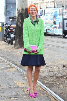 A ladylike approach to lime green (Photo by Gianluca Senese)