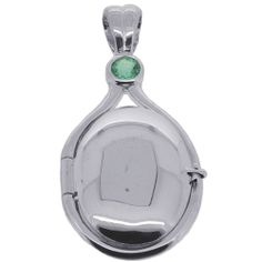 .925 Sterling Silver 0.26 Ct Emerald H2O Locket Just Add Water Mermaids Pendant #Locket