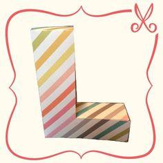 Letra L 3D de papel | 3D L letter scrapbook www.facebook.com/fernandaultra