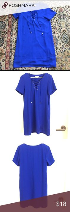 Blue LoveRiche Lace Up Dress Only worn two times! Boutique Dresses