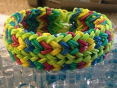 Colorful Thick Weave Braid Rainbow Loom Adult Size by DooniLoomi, $5.99