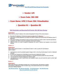 2017 PassLeader 304-200 Dumps with VCE and PDF (Question 61 - Question 80)