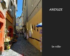 Anduze, la rue droite ,boutique L'Atelier à Droite