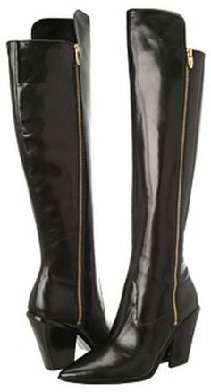 Sigerson Morrison Womens Ilaine Black Leather Boots 7 M Sigerson Morrison, Black Leather Boots, Over The Knee Boots, Heeled Boots, Heels, Stuff To Buy, Fashion Trends, Accessories, Amazon