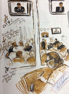 Incredible: Molly Crabapple Sent Us Sketches from Khalid Sheikh Mohammed's Pretrial Hearings at Gitmo | VICE United States