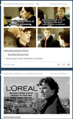 Hahahaha omg. John's blurry sassy face in the third frame... And people wonder where Johnlock came from - Look at their expressions in the last frame!