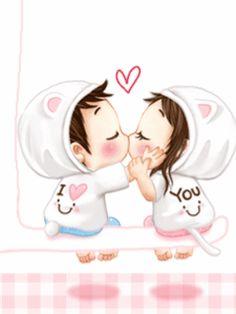 gif animé baiser