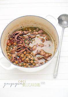 Zuppetta piccante di ceci e moscardini