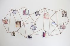 Geometric photo display | Brit + Co