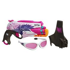 Nerf® Rebelle Sweet Revenge Blaster Kit or any of the Rebelle nerf line (they are the girly version) // Check!!