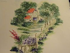Pathway with fence! (Used only 1/2 of pathway). Look at the other items in photo examples they are sold separately: flowers, leaves,barn, basket. Made by Art Impressions Rubber Stamps. You can purchase these in my ebay store. Click on picture & it will take you into this listing. Use my search engine to find other items . My ebay Store is: Pat's Rubber Stamps & Scrapbooks or call me 423-357-4334 with order. We take PayPal. You get free shipping with $30.00 or more