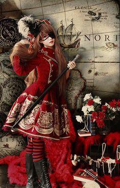 Pirate Lolitas are a subgroup within Harajuku Lolita fashion and involve pirate paraphernalia like eyepatches and tricorns!