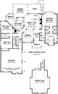 The Gilchrist House Plans First Floor Plan - House Plans by Designs Direct.