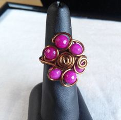 Items similar to wire wrap ring Pink jade. made in Ireland. on Etsy Jade Ring, Wire Rings, Ireland, Shops, Community, Trending Outfits, Unique Jewelry, Handmade Gifts, Pink
