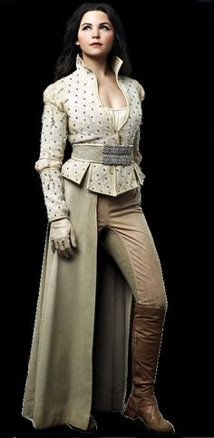 Snow White from Once Upon a Time - This is such an amazing look for a character - feminine and princess-y, but also powerful and active.  You can picture her leading an army from atop a charger, demanding answers from an enemy or serving tea to a foreign dignitary.