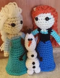 Resultado de imagen para personajes de frozen a crochet