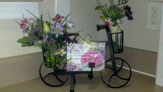 Bike arrangement- nice gift for a secretary.  <3