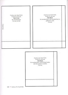 "LIVRE ""Fashions for Small Dolls"" - titia1438 - Picasa Web Albums"