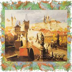 Картина-раскраска по номерам | Карлов мост. Прага. (GX6999)