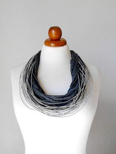 Gray jewelry gray necklace gray statement necklace gray multi