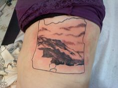 oregon tattoo with rocky plains