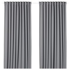 MAJGULL Block-out curtains, 1 pair, grey, cm. With block-out curtains you won't get your sleep disturbed by moonlight and street lights - or be woken by the sun when you want to sleep in late. The heavy fabric falls softly and evenly. Curtains To Go, Curtains Without Sewing, Block Out Curtains, Thick Curtains, Room Darkening Curtains, Sheer Curtains, Panel Curtains, Hanging Curtains, Double Curtain Rod Set