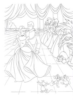 Coloring Page Activity Cinderella