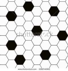 Black and white hexagon tile seamless background pattern