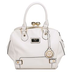 84c969a8d7 Look at this Versace White Cambridge Satchel on today!