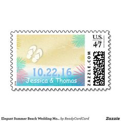 White Vintage Seashells Beach Wedding Postage - Perfect for mailing out your beach wedding invitations. Personalize stamps for personal touch. Wedding Postage Stamps, Beach Wedding Invitations, Self Inking Stamps, Monogram Wedding, Vintage Glamour, Floral Watercolor, Bridal Shower, Seashells, Summer Beach