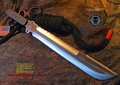 Relentless Knives Botswana Bush Ranger 3V steel 22 inch OAL Incredible strength and utility.