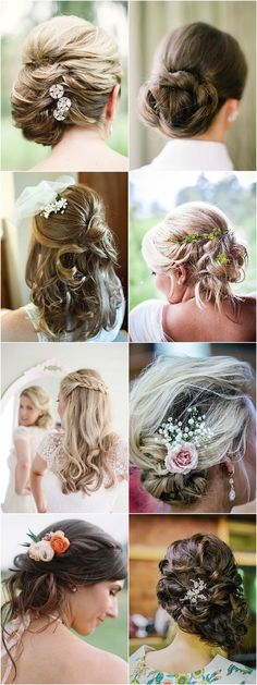 Classic updo Wedding Hairstyles with Chic