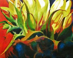 Elly Maessen – 'Sunflower' Abstract, Painting, Painting Art, Paintings