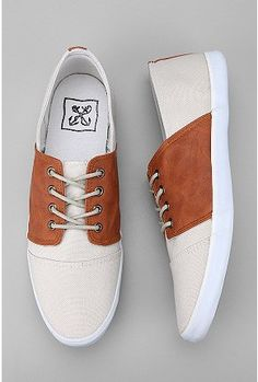 More shoe spiffiness! Urban Outfitters has pretty decent mens shoes. Who knew? Anchor Saddle Sneaker $38.00