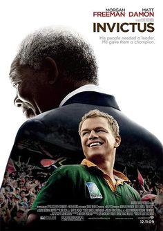 Invictus es un película de drama deportivo del año 2009, dirigido por Clint Eastwood y protagonizada por Morgan Freeman y Matt Damon.