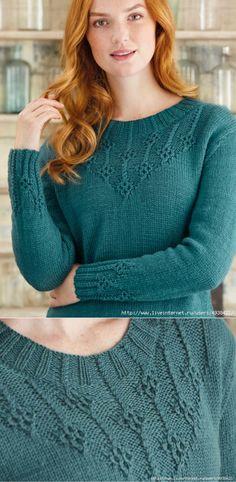 """Элегантный женский вязаный пуловер """"Jadeite"""""""