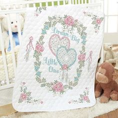 Baby by Herrschners® Pre-Quilted Dream Big Baby Quilt Stamped Cross-Stitch Kit Was: $49.99                     Now: $39.99