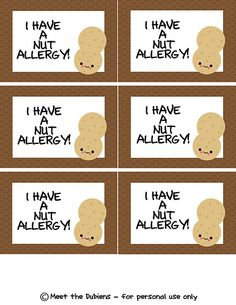 Nut allergy labels