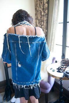 eat, sleep, denim blog » Denim Trend: Frayed Oversized Jackets