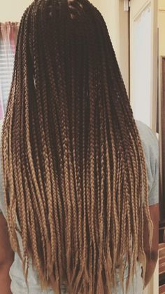 Long ombré box braids