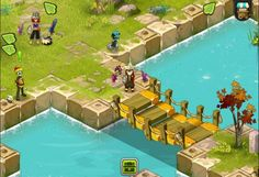DOFUS Touch is a Free-to-play Android, Role-Playing MMO Game featuring Turn Based (Strategy) battles.