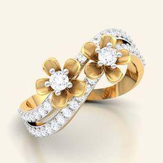 Blossom floret diamond ring
