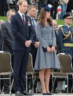 Respectful: William and Kate stood for the arrival of Governor General Sir Peter Cosgrove and wife Lady Lynne Cosgrove, who stepped from their car as the Australian national anthem was being played