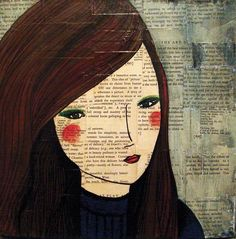 Into the Night: mixed media on canvas   by Australian artist Ali J